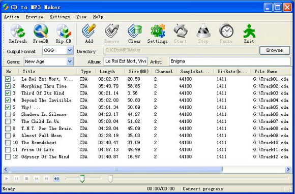 Click to view CD to Mp3 Maker 3.40 screenshot